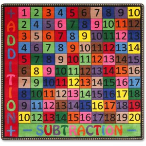 Flagship Carpets FE10314A Math Coll. Add/Subtraction Rug