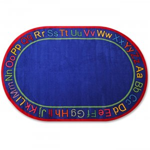 Flagship Carpets FE11045A Know Your ABCs Oval Rug