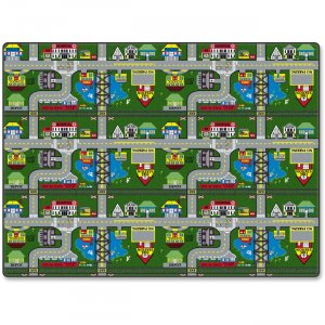 Flagship Carpets FE15134A Places To Go Activity Rug