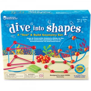 "Learning Resources 1773 Dive into Shapes! A ""Sea"" and Build Geometry Set"