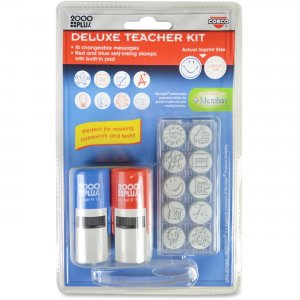 Consolidated Stamp 030360 Cosco Message Stamp Deluxe Teacher Kit