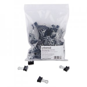 Genpak UNV10199VP Binder Clips in Zip-Seal Bag, Mini, Black/Silver, 144/Pack