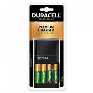 Duracell DURCEF27 ION SPEED 4000 Hi-Performance Charger, Includes 2 AA and 2 AAA NiMH Batteries