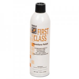 Franklin Cleaning Technology FKLF801015 First Class Furniture Polish, Floral Scent, 18 oz Aerosol Can, 12/Carton