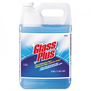 Glass Plus DVO94379 Glass Cleaner, Floral, 1gal Bottle, 4/Carton