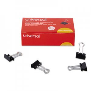 Genpak UNV10200VP3 Binder Clips, Small, Black/Silver, 36/Pack