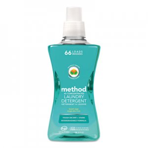 Method MTH01489 4X Concentrated Laundry Detergent, Beach Sage, 53.5 oz Bottle, 4/Carton
