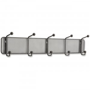 Safco 6403BL Onyx 5-hook Steel Mesh Wall Rack