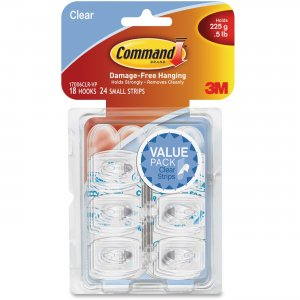 Command 17006CLR-VP Clear Mini Hook Value Pack