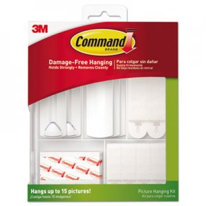 Command MMM17213ES Picture Hanging Kit, White/Clear, Assorted
