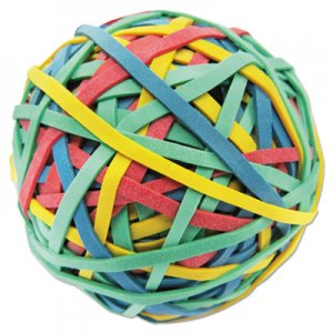 "Genpak UNV00460 Rubber Band Ball, 3"" Diameter, Size 32, Assorted Colors, 260/Pack"