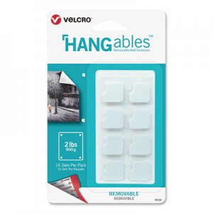"VELCRO Brand VEK95184 HANGables Removable Wall Fasteners, 0.75"" x 0.75"", White, 16/Pack"