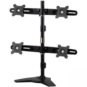 "Amer Mounts AMR4S Stand Based Quad Monitor Mount. Up to 24"", 17.6lb monitors"