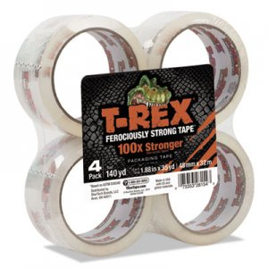 "T-REX DUC285045 Packaging Tape, 1.88"" Core, 1.88"" x 35 yds, Crystal Clear, 4/Pack"