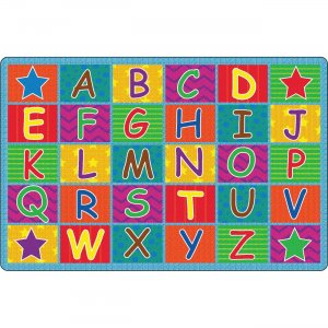 Flagship Carpets FE33422A Cheerful Alphabet Classroom Rug