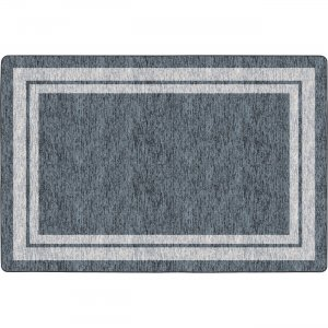 Flagship Carpets FE42544A Double Light Tone Border Gray Rug