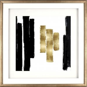 Lorell 04476 Blocks Design Framed Abstract Artwork
