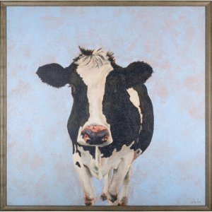 Lorell 04493 Cow Animal Framed Canvas Art