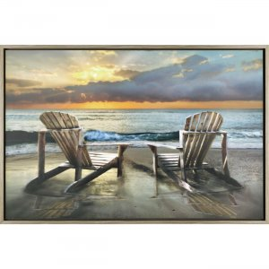 Lorell 04487 Island Song Laminate Framed Canvas Art