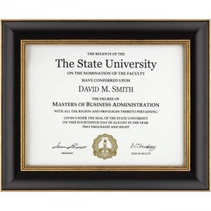 DAX NDTU8511BT Gold Accent Wood Document Frame
