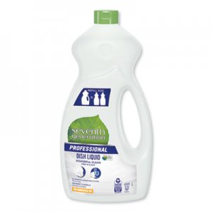 Seventh Generation Professional SEV44719 Dishwashing Liquid, Free and Clear, Jumbo 50 oz Bottle, 6/Carton