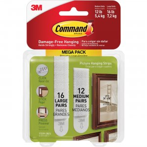 3M 1720928ES Command Picture Hanging Strips Mega Pack