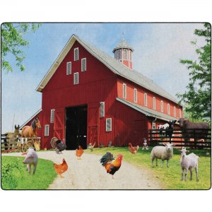 Flagship Carpets FA100458FS Barn Animals Classroom Rug