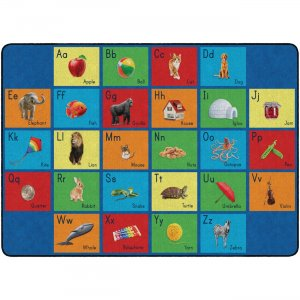 Flagship Carpets FA101932FS See My Alphabet Classroom Rug