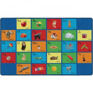 Flagship Carpets FA101944FS See My Alphabet Classroom Rug