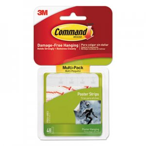 Command MMM1702448ES Poster Strips Value Pack, White, 48/Pack