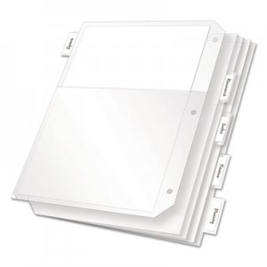 Cardinal CRD84010 Poly Ring Binder Pockets, 11 x 8.5, Clear, 5/Pack