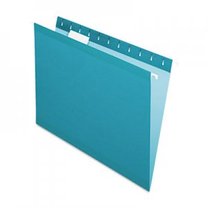 Pendaflex 415215TEA Reinforced Hanging Folders, 1/5 Tab, Letter, Teal, 25/Box