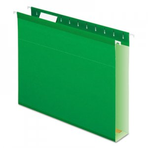 Pendaflex PFX4152X2BGR Extra Capacity Reinforced Hanging File Folders with Box Bottom, Letter Size, 1/5-Cut Tab, Bright Green, 25