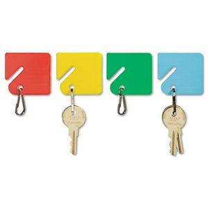 SteelMaster 2013004W47 Slotted Rack Key Tags, Plastic, 1 1/2 x 1 1/2, Assorted, 20/Pack