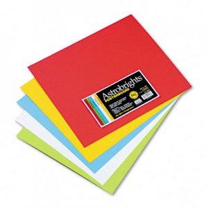 wausau paper astrobrights premium poster board 14 x 12 five assorted colors 50 carton 22058 wau22058
